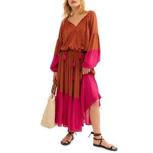 Free People Never Forget Long Sleeve Maxi Dress